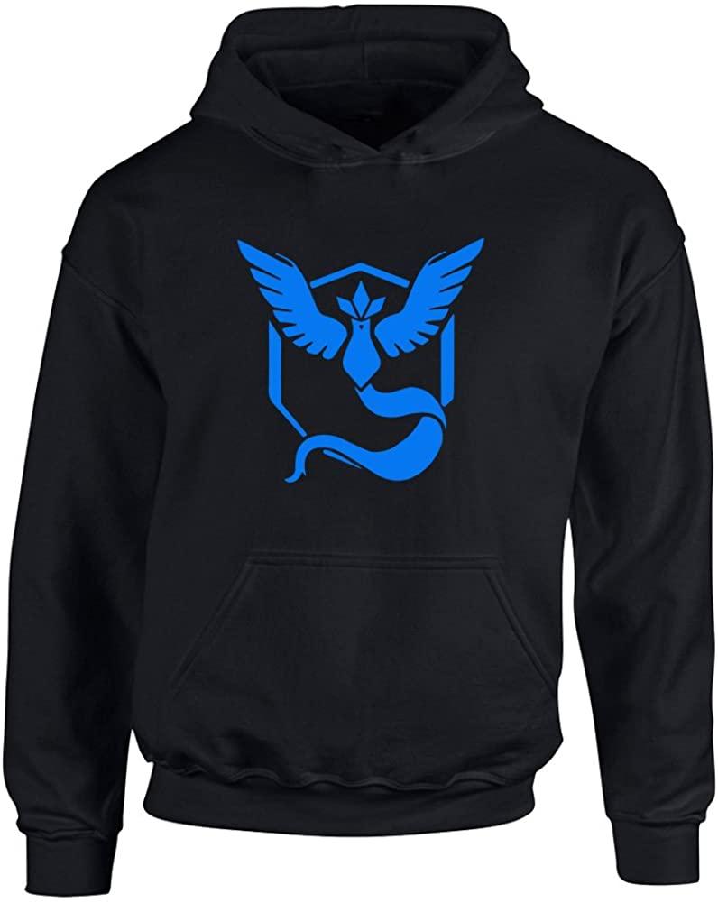 Brand88 - Team Mystic Pokemon Go Badge, Kids Printed Hoodie