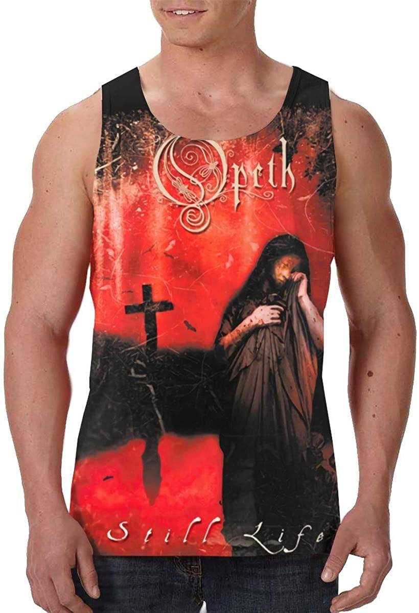 Dfhrtgre Opeth Man Summer Fashion Sleeveless Vest Print Tank Top Black