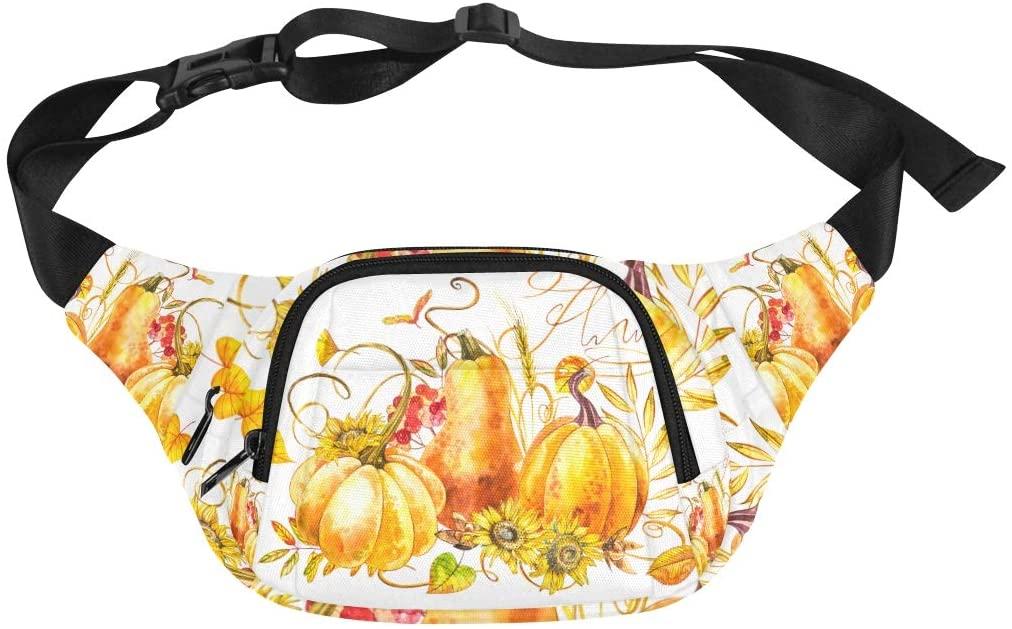 Lightweight Waist Pack Natural Funny Fruit Vegetable Pumpkin Adjustable Belt Waterproof Nylon Fenny Pack Cheap Fashion Bags Waist Bag Travel Fashion Men Bag