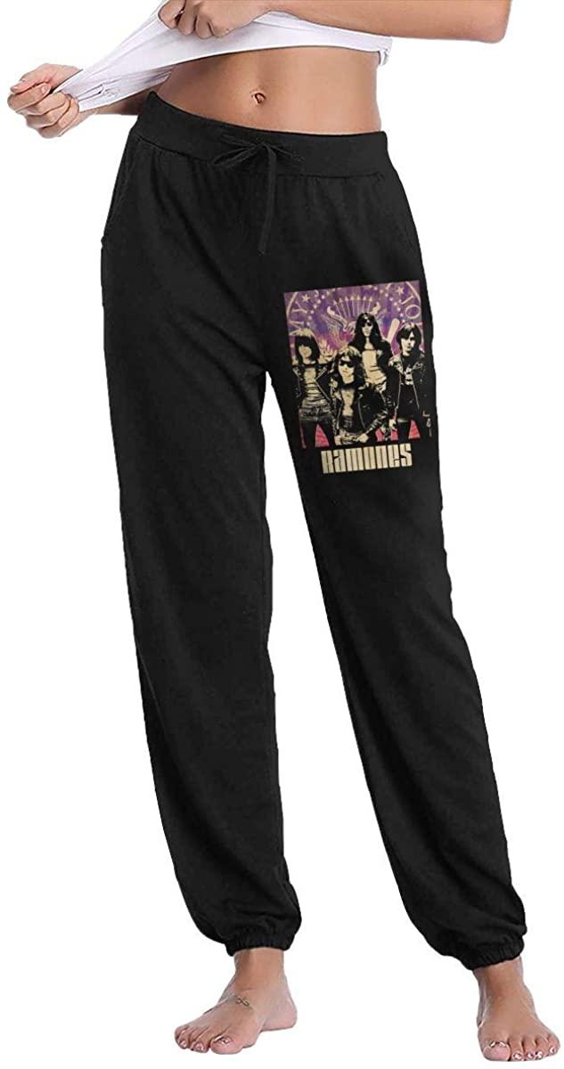 Caiyuzhuanmai Ramones Band Womens Comfort Soft Sweatpants Women's Long Pants