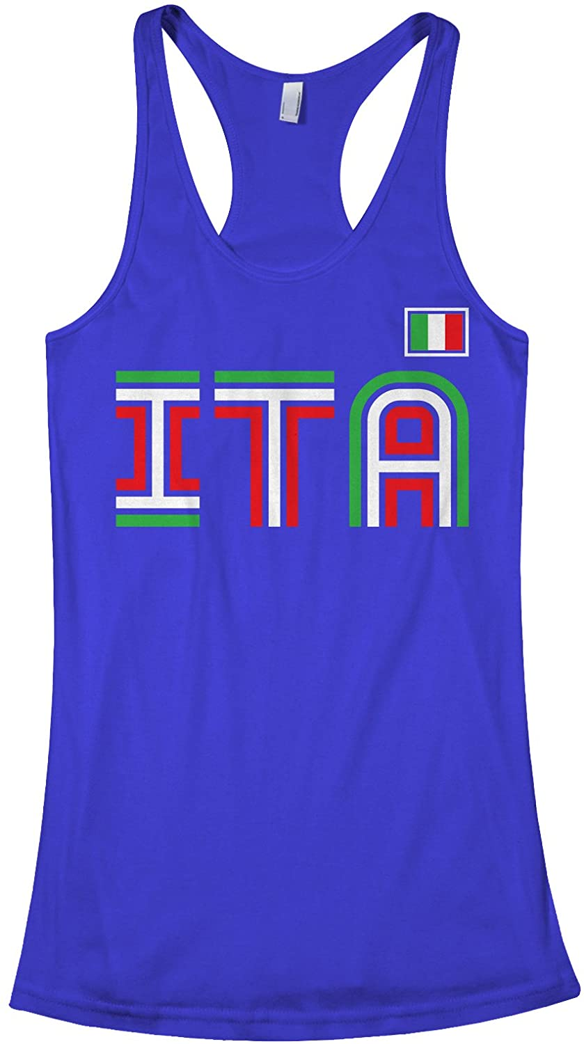 Threadrock Women's Italy Athletic Retro Series Racerback Tank Top