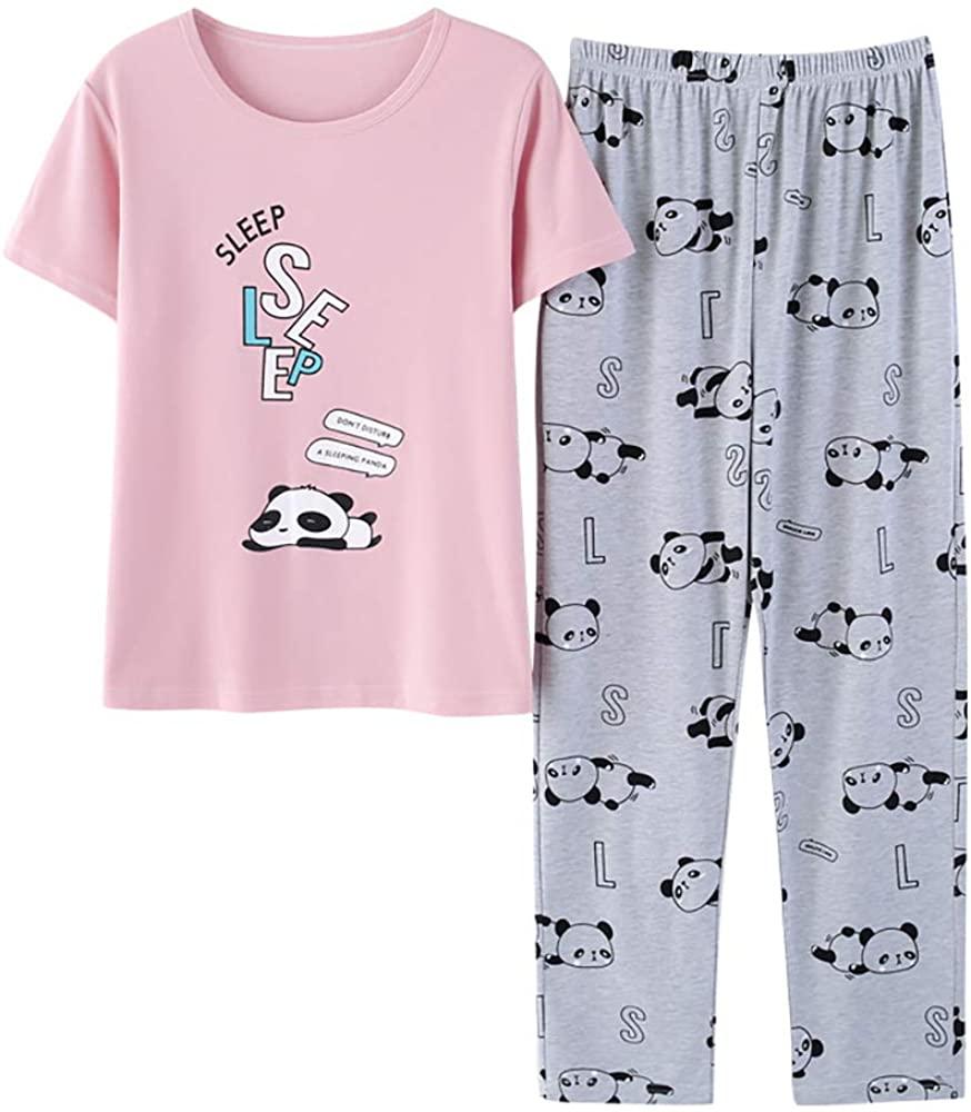 Big Girls Cute Unicorn Pajama - Short Sleeve & Pants Set Tweens/Teens PJS Pal Kids Size 8-18