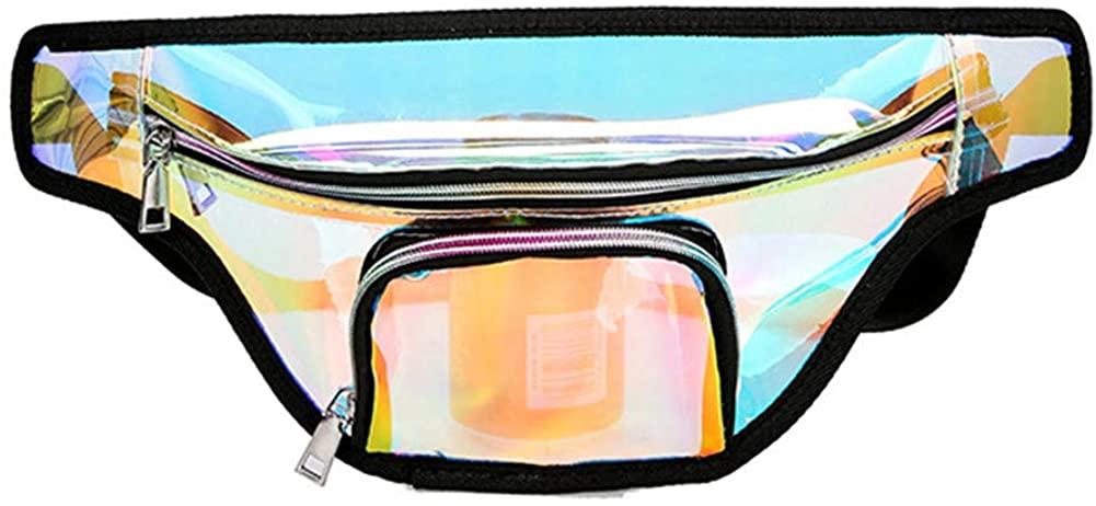 Aimeely Women Shiny Hologram Waist Bag Portable Beach Fanny Pack Chest Bags