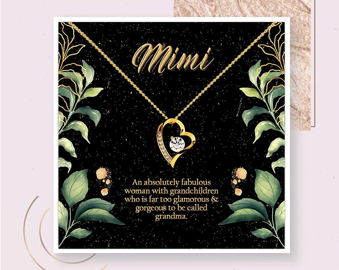 iWow Inspirational Grandma Necklace Gift Grandma to Be Gold Necklace New Grandma Gift from Grandkids Gold Surgical Silver Jewelry for Grandmother Box On Birthday, Christmas