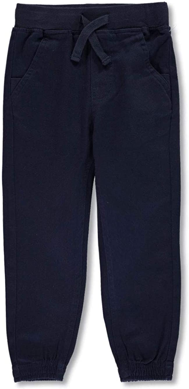 Nautica Big Boys' School Uniform Knit Waist Tapered Twill Joggers - Navy, 14