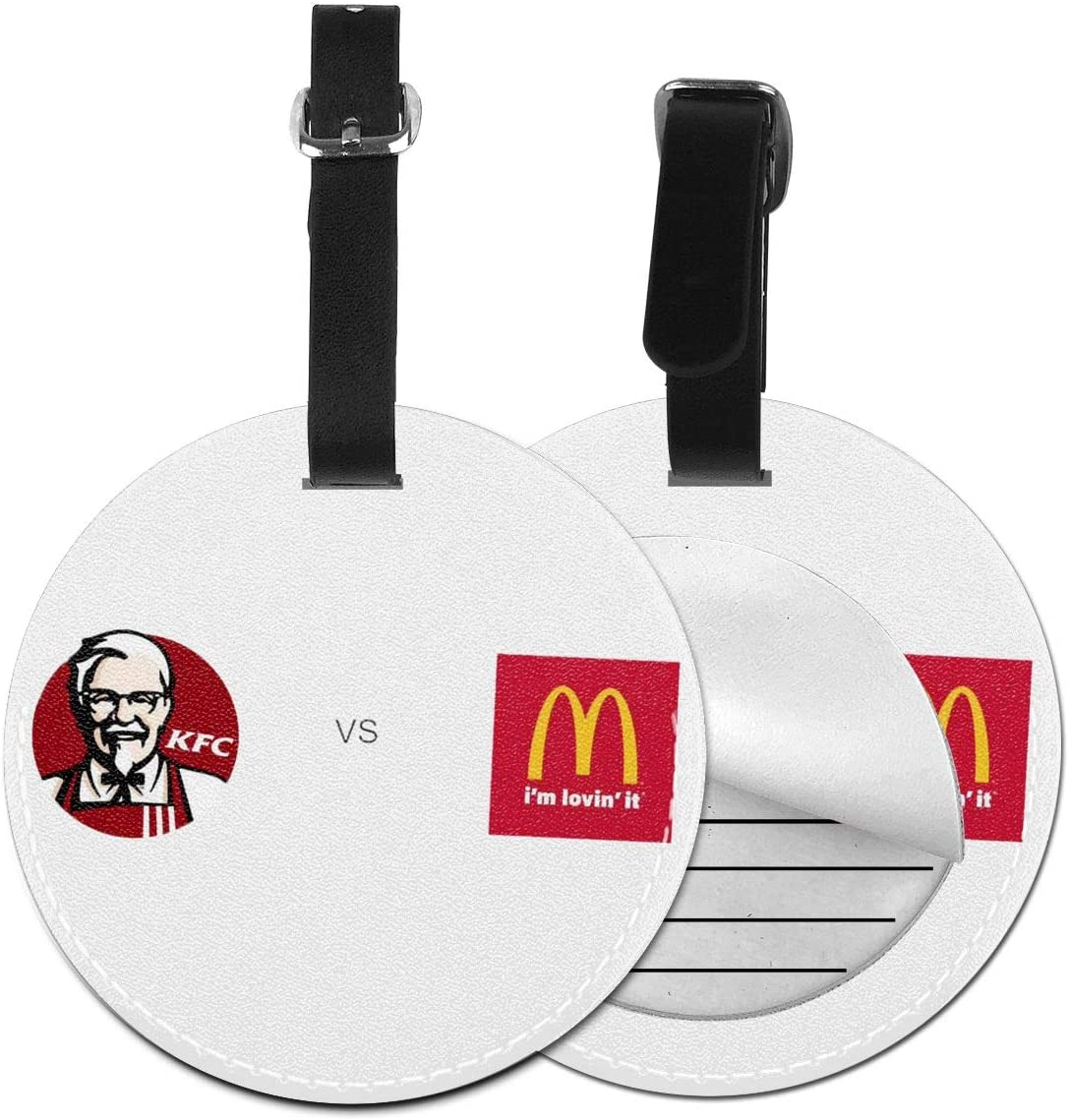 N/C KFC Cartoon Artificial Leather Round Luggage Tag