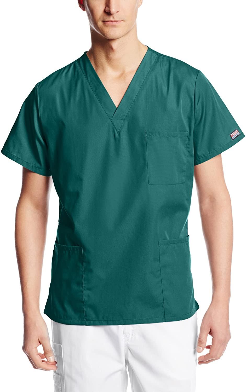 Cherokee Big and Tall Originals Unisex V-Neck Scrubs Shirt, Hunter, XX-Large