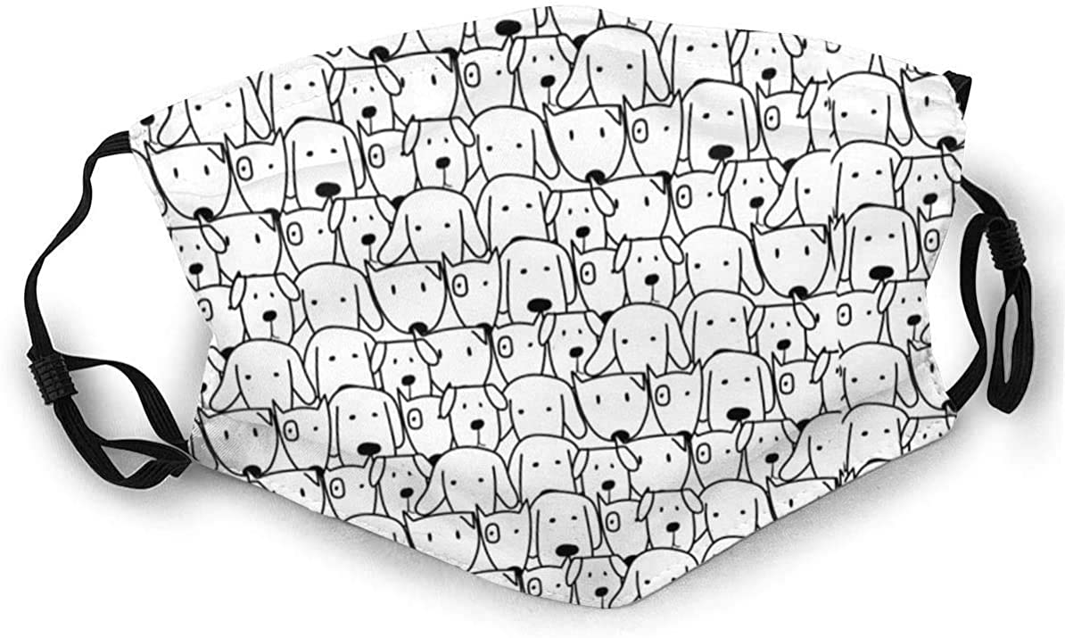 Cloth Face Mask Washable Cute Dogs Anti Filter Dust Fabric Mouth Mask Reusable Printed B32