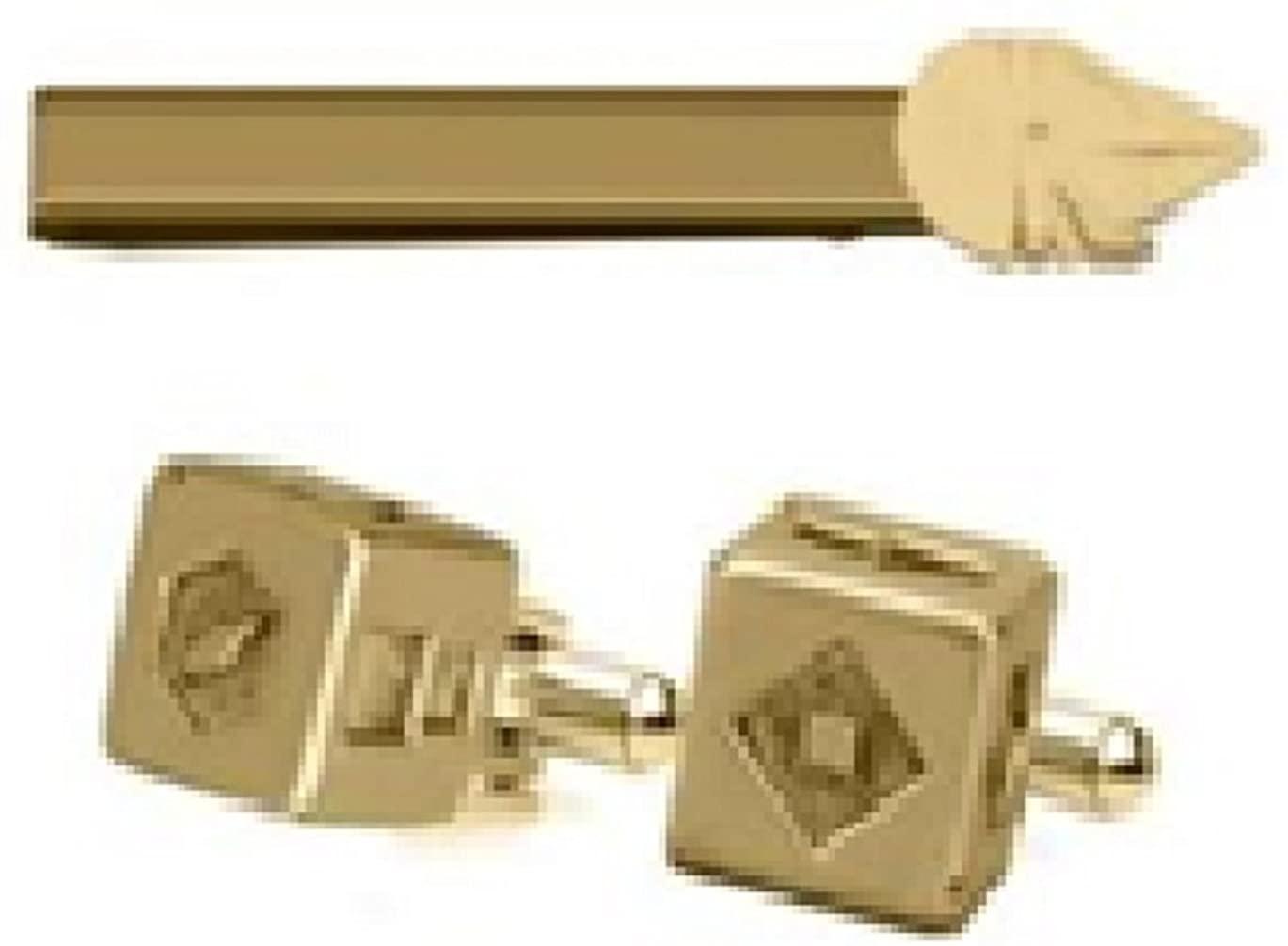 Star Wars, Millenium DICE Money Clip and Cufflinks Set - Stainless Steel Gold Plated Artwork