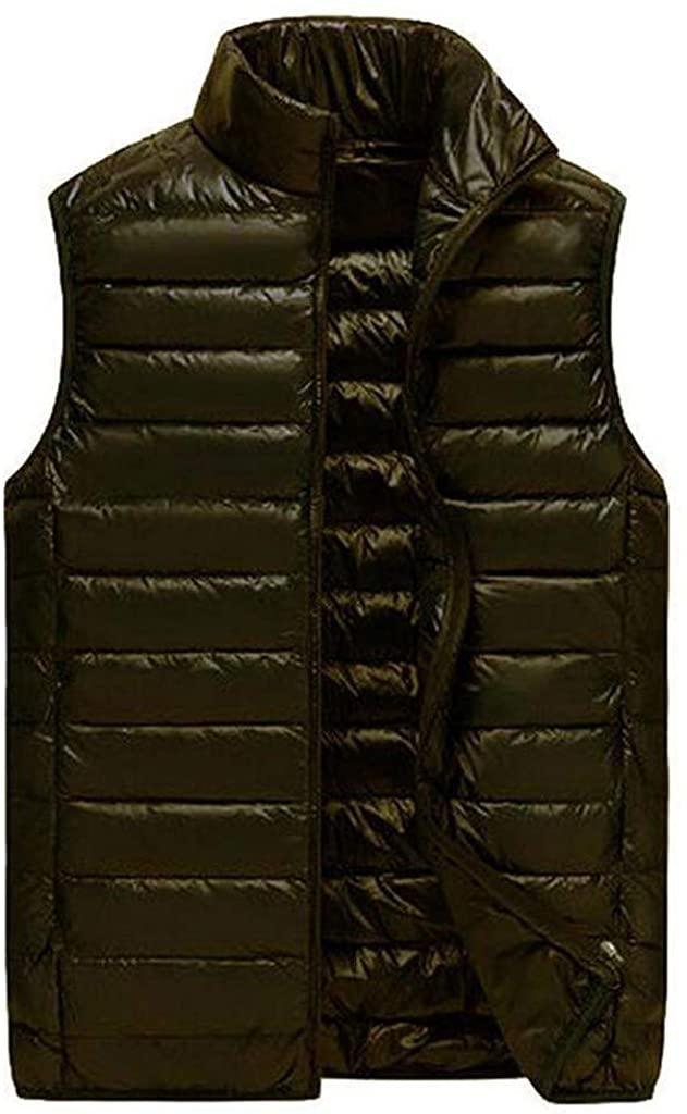 Stoota Mens Winter Warm Padded Puffer Vest, Outdoor Thick Fleece Lined Sleeveless Jacket XL- 4XL