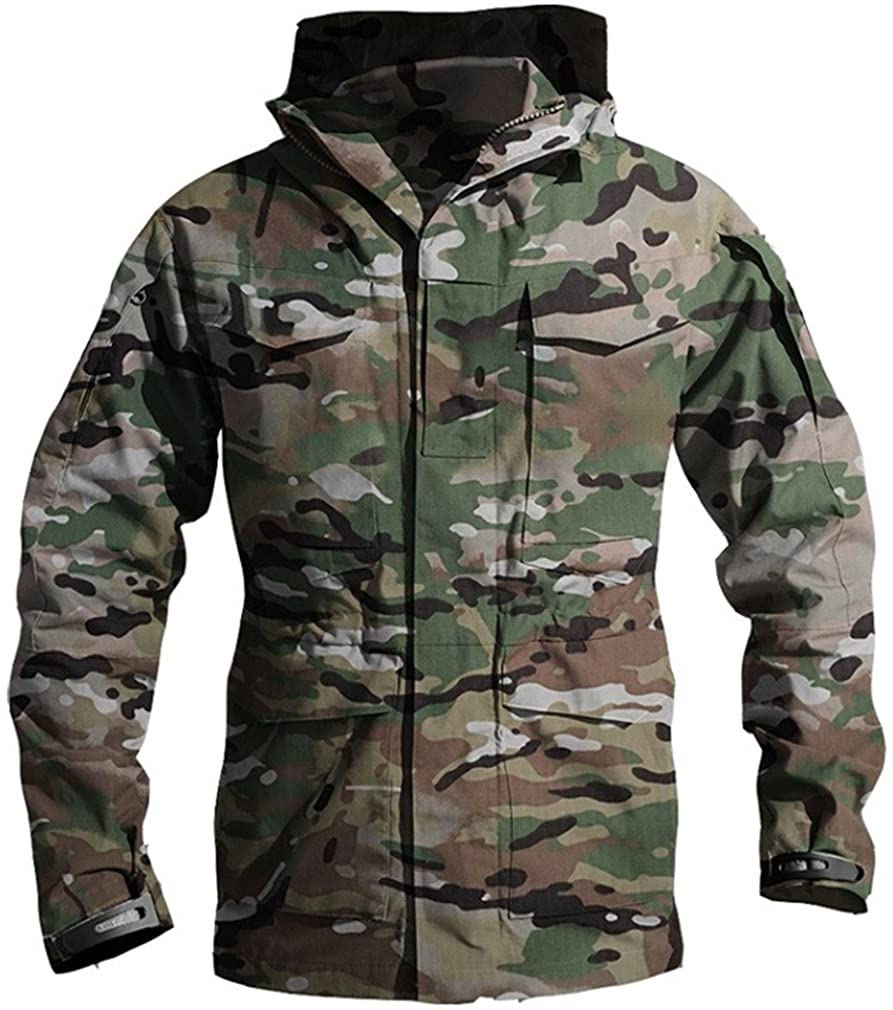 Zichhing Army Clothes Casual Tactical Windbreaker Men Winter Autumn Waterproof Flight Pilot Coat Hoodie Military Field Jacket