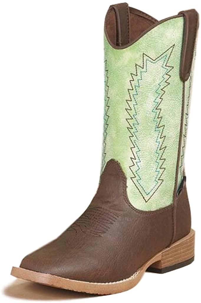 M&F Western Boys Wyatt (Little Kid) Brown/Green Boot