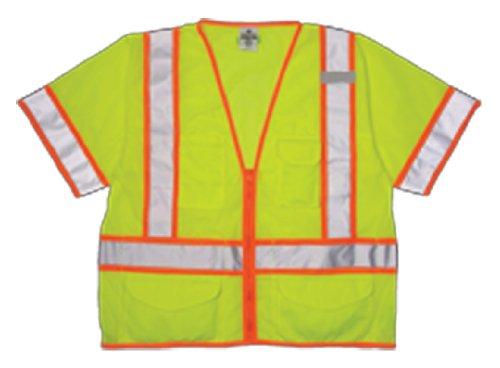 ML Kishigo 1242 Ultra-Cool Polyester Mesh Class 3 Surveyors Vest, 5X-Large, Lime