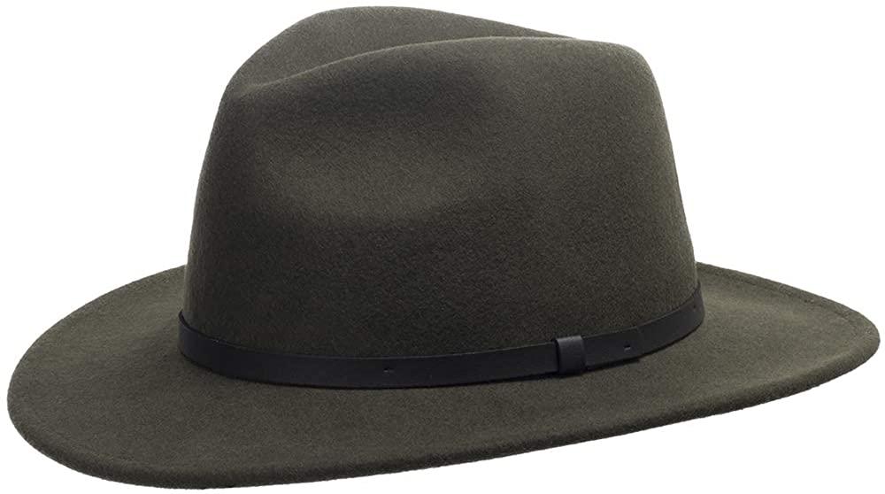 Ultrafino Roadster Wool Felt Safari Hat with Leather Hatband
