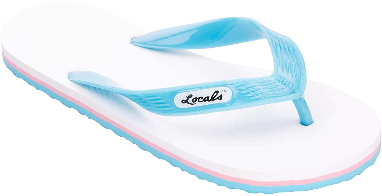 Locals White Flip Flop Sandal, 9.5 Length