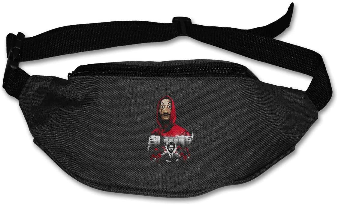 Edgergery La Casa De Papel Runner's Waist Pack Purse Belt Bag
