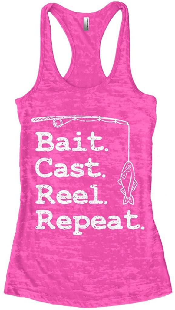 Threadrock Women's Bait Cast Reel Repeat Burnout Racerback Tank Top