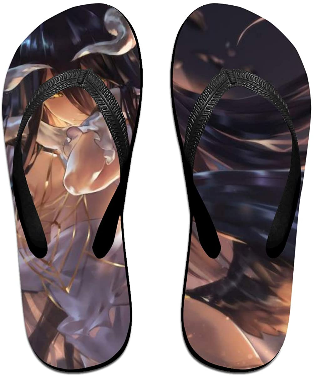 Overlord Anime Flip Flops Beach Sandals Thong Slippers for Indoor Outdoor Bathroom Shower