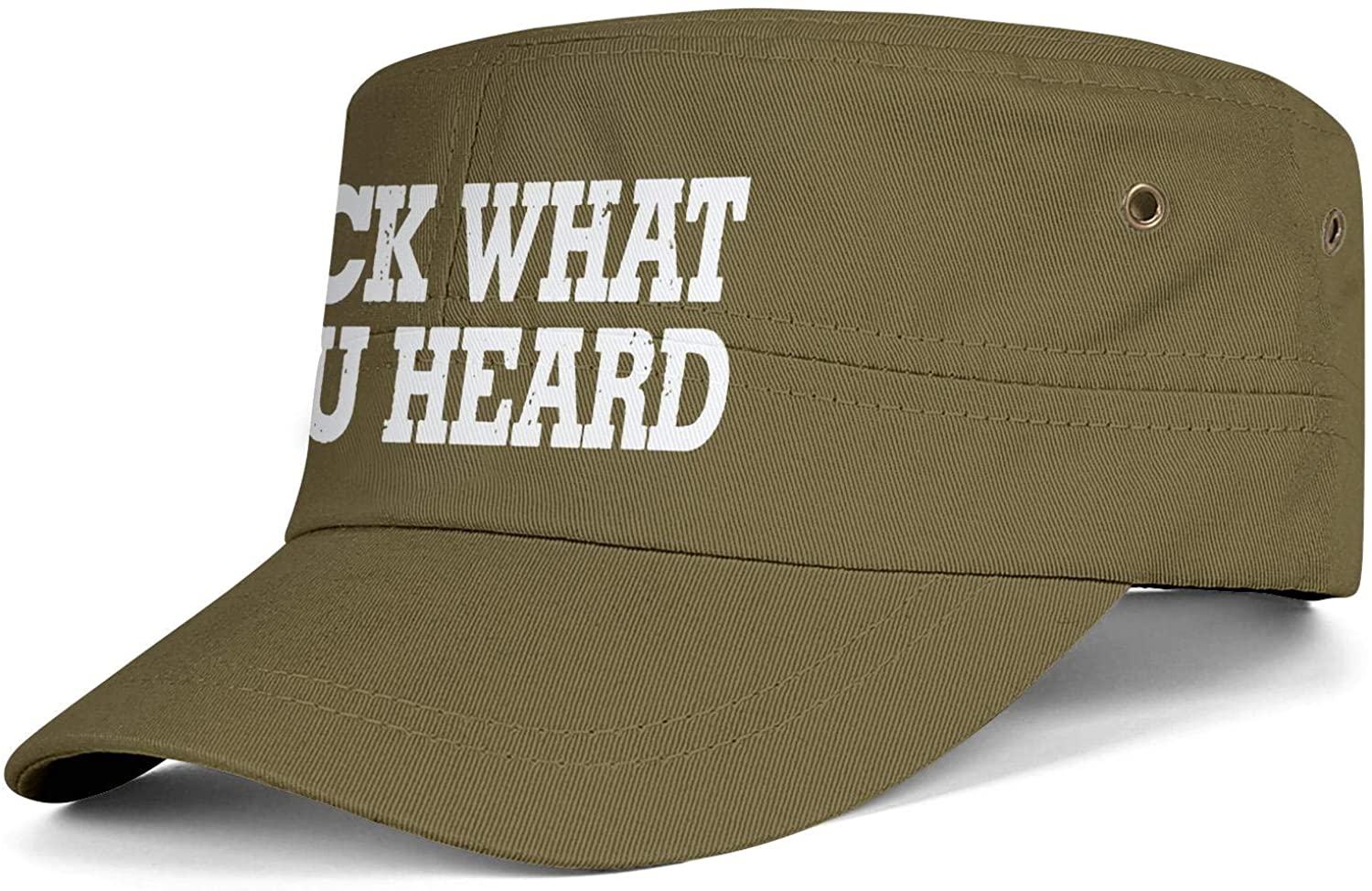 TYYIN Fuck-What-You-Heard Men Women Awesome Army Hat Adjustable Novelty Dad Cap