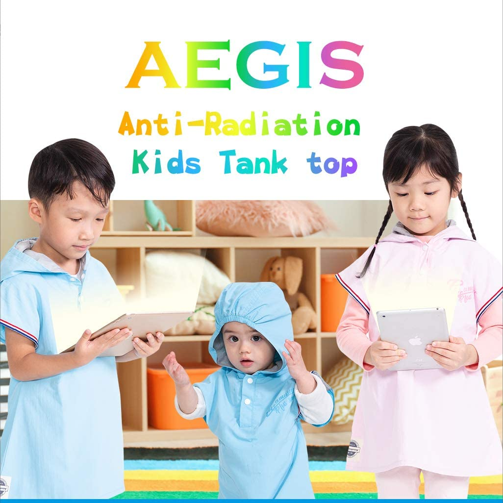 apexgaming Aegis Anti-Radiation Clothing for Kids_Hooded Tank Top (Girl) (110cm, Pink) Made in Taiwan