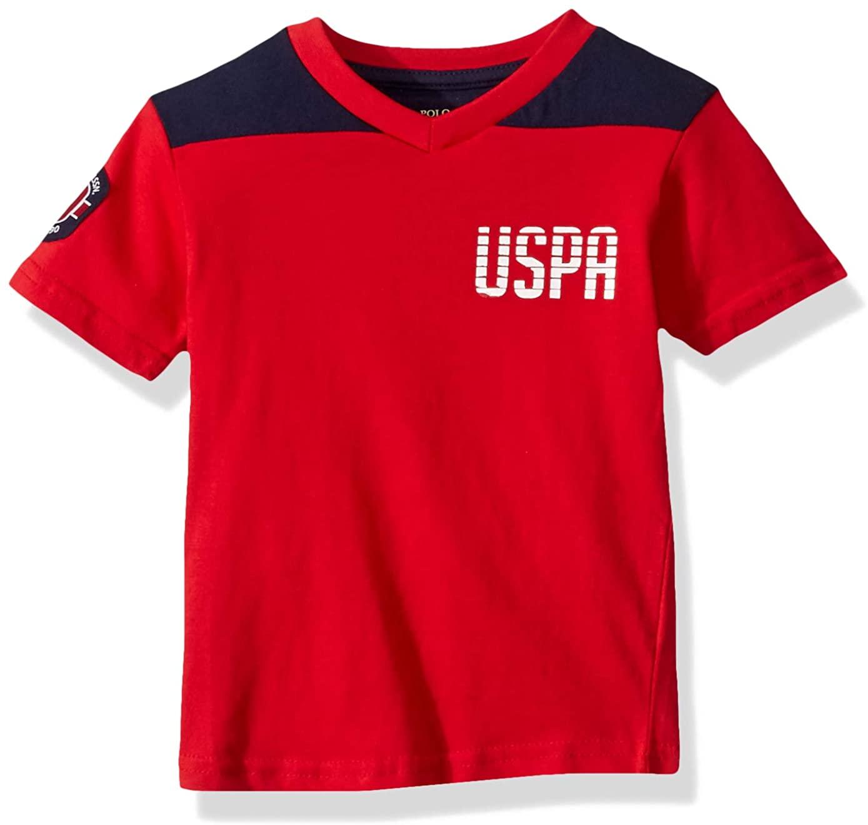 U.S. Polo Assn. Boys' Short Sleeve Cut and Sew V-Neck T-Shirt