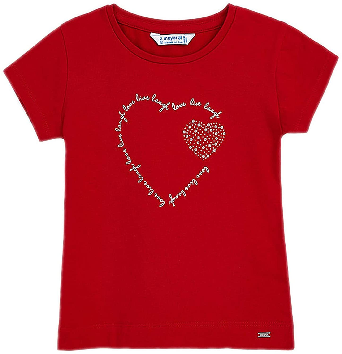 Mayoral - Basic s/s t-Shirt for Girls - 0174, Red
