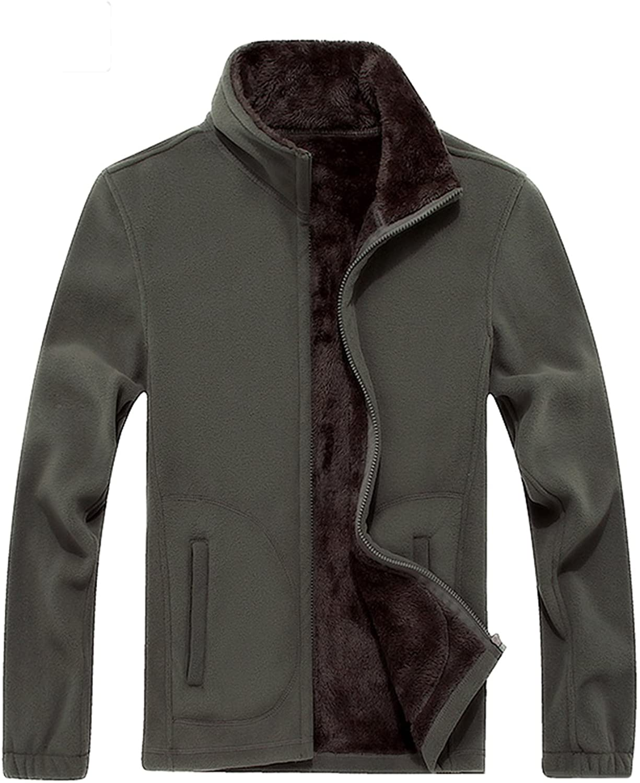Zobek Men's Polar Fleece Lined Warm Sport Jacket Outdoor Coat Sweatshirt