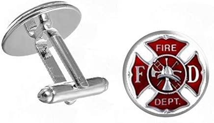 Husband Gift, Firefighter, fire dert. Set Cufflinks and tie Clips fire Superheroes, Men's Gifts, Weddings, Grooms, Dad's Gifts