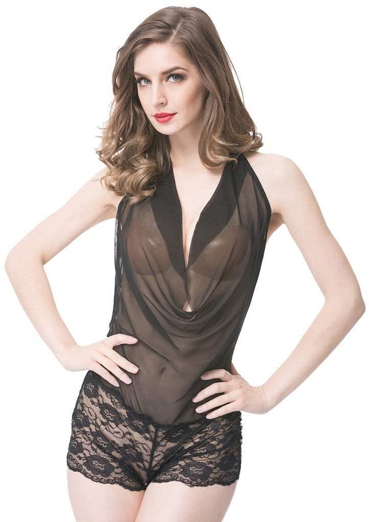 LYS Attractive Underwear,Erotic Underwear Tight-Fitting Ladies hot Fashion Temperament Pajamas,Large