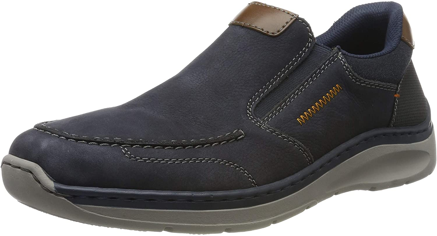 Rieker Mens-Slipper Blau (5)