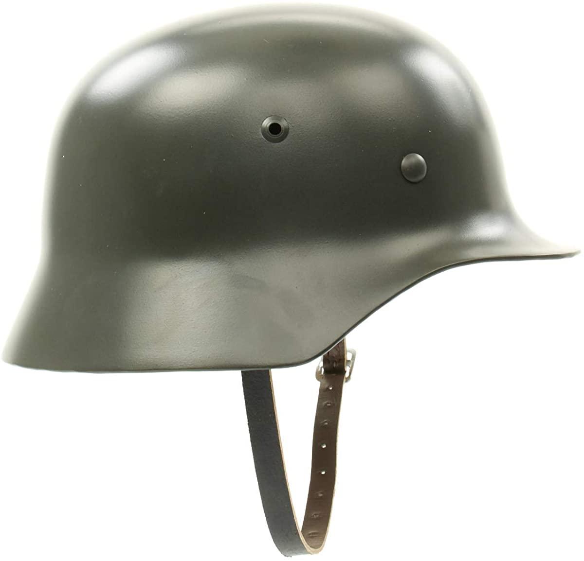 German WWII M35 Steel Helmet- Stahlhelm 35 WW2 M1935- Extra Large Shell- Size 70