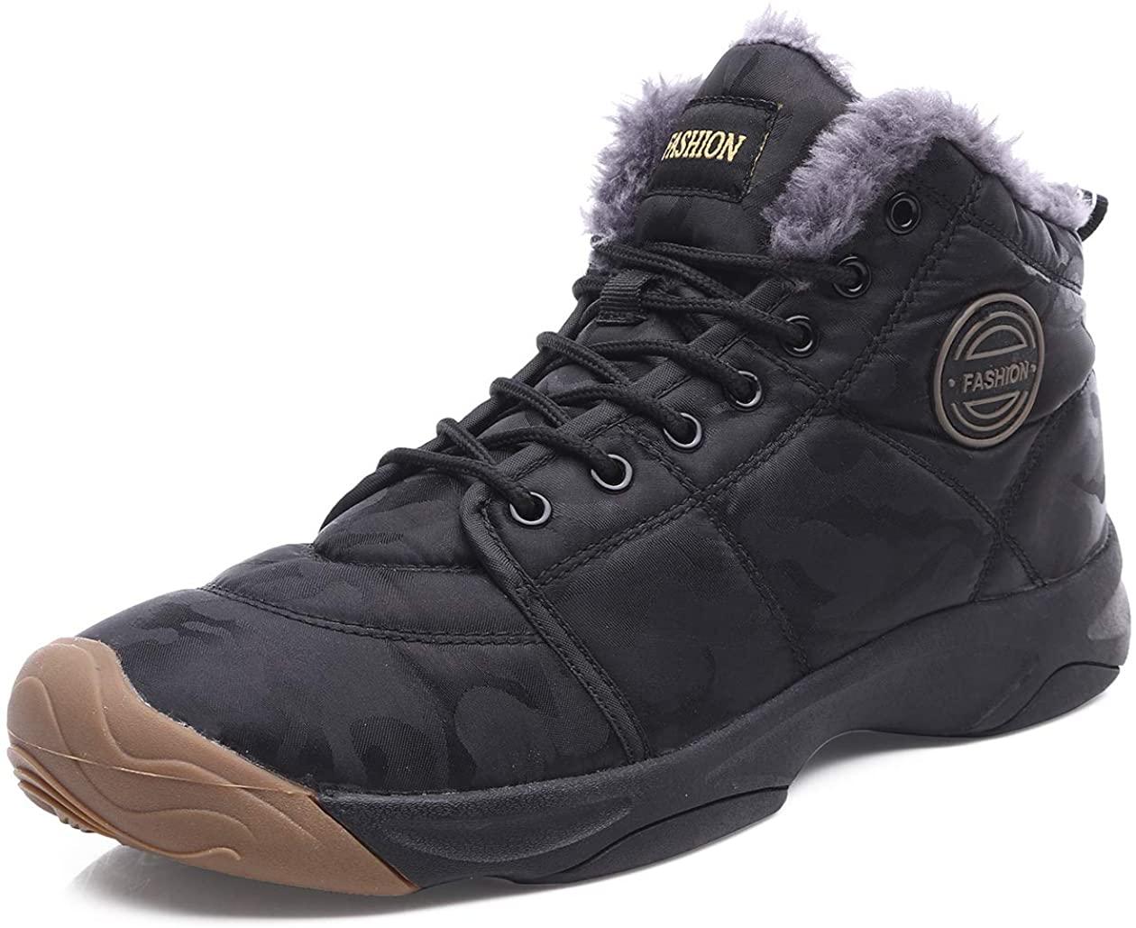 YIRUIYA Mens Snow Boots Waterproof Winter Boots Anti-Slip Sneakers