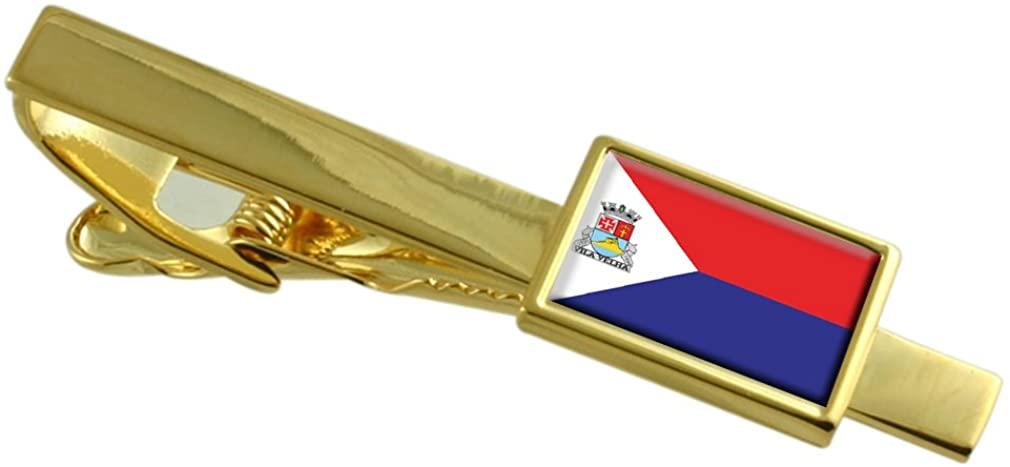 Select Gifts Vila Velha City Espirito Santo State Flag Gold-Tone Tie Clip