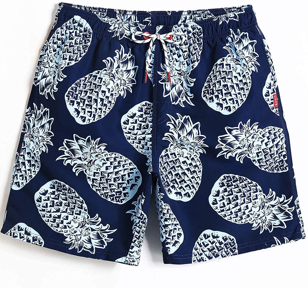 Beamlet Mens Swim Trunks Quick Dry Beachwear Board Shorts Swimwear with Mesh Lining