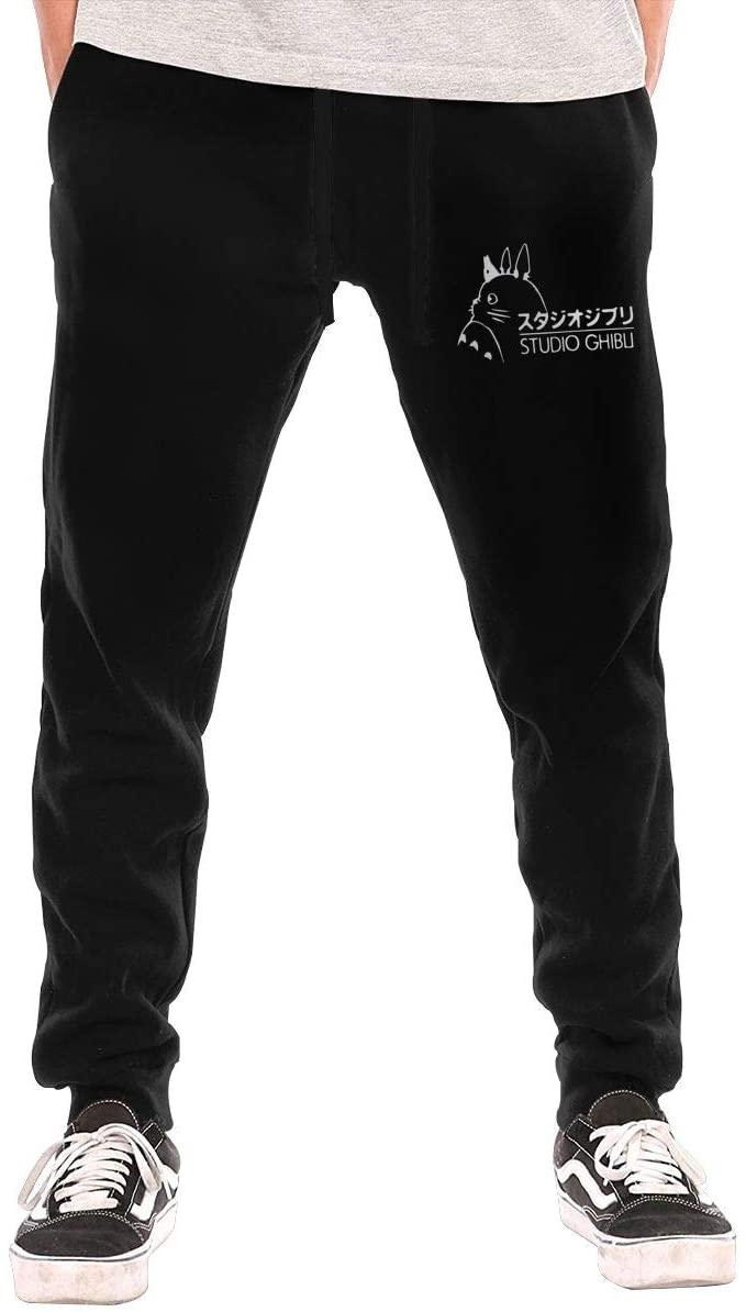 Jurenhq Totoro Ghibli Anime Mans Sweatpants Sport Pants Casual Teen Trousers with Pockets