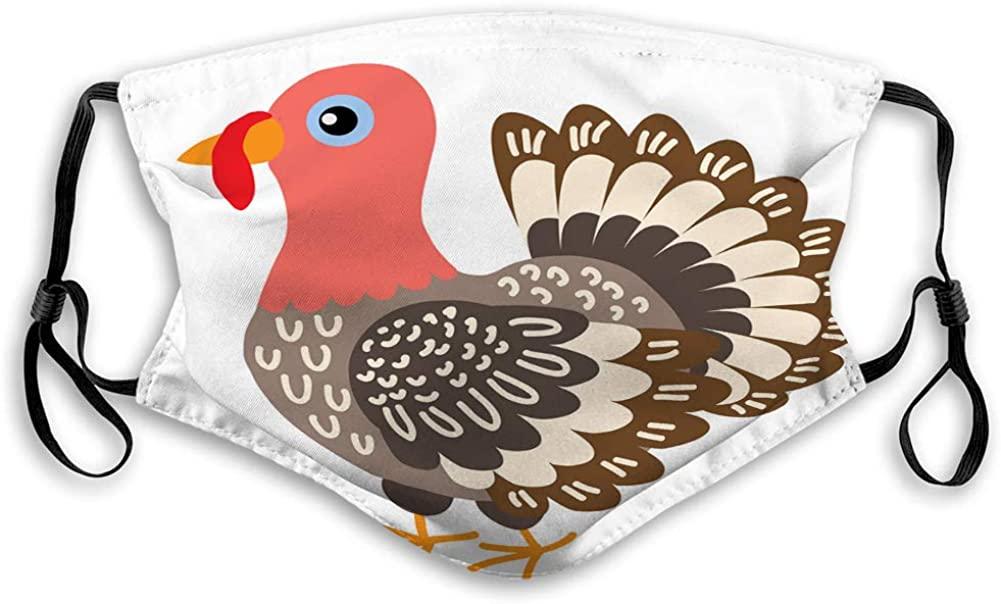 Reusable M-shaped Nose Clip Shield cute cartoon turkey Soft Shield