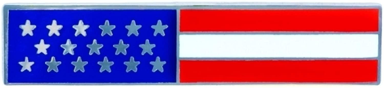 Police Officer Firefighter USA US American Flag Unifom Medal Pin Bar Silver