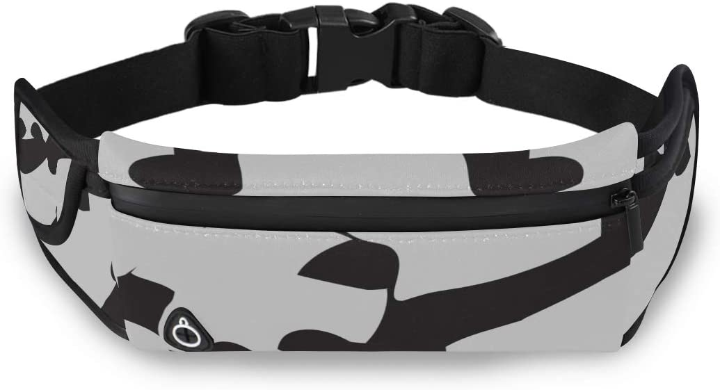 Dabbing Chinese Panda Dance Waist Bags For Men Waist Pack For Travel Fashion Bag For Girls With Adjustable Strap For Workout Traveling Running
