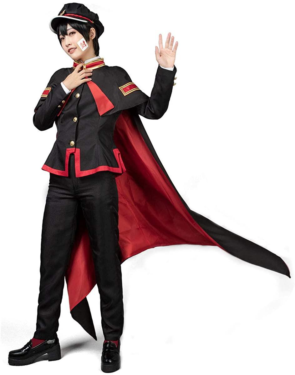 Cosfun Hanako-kun Yugi AmaneCosplay Costume Uniform with Cloak Hat mp005590
