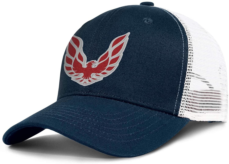 Pontiac-Firebird-Logo- Men's Womens Mesh Cool Cap Adjustable Snapback Sports Hat