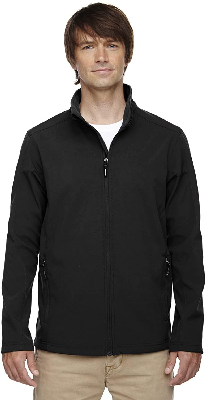 Cruise Men's Tall 2-Layer Bonded Soft Shell Jacket, Black, XXX-Large