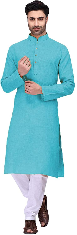 Indian Designer Partywear Traditional Ethnic Mens Kurta Pajama.ICW2584-8