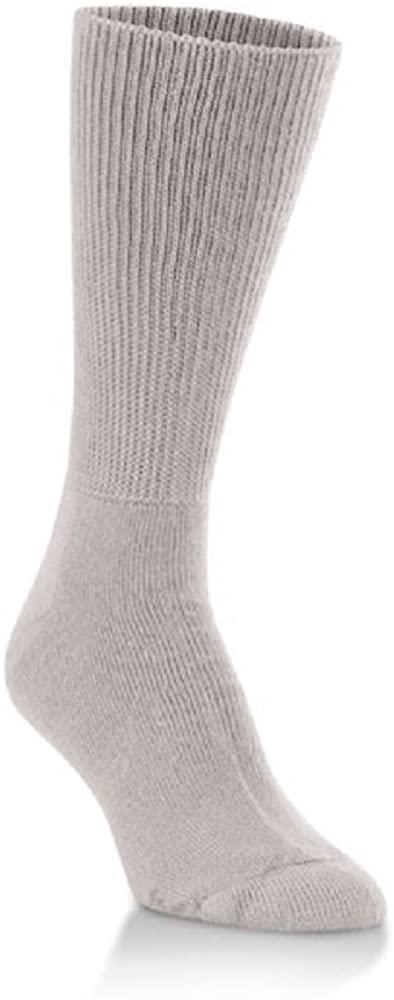 Worlds Softest Socks Adult Unisex Worlds Softest Sensitive Comfort Crew Socks,Stone,X-Large