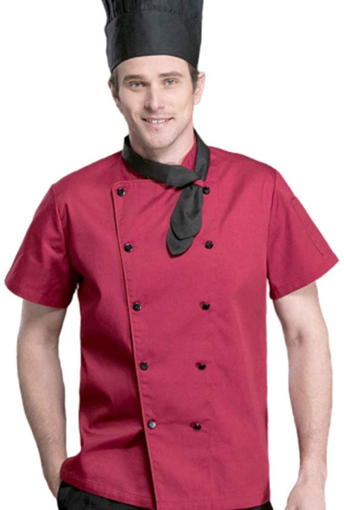 Men And Women Summer Short Sleeve Chef's Jacket Chef Clothes,XL