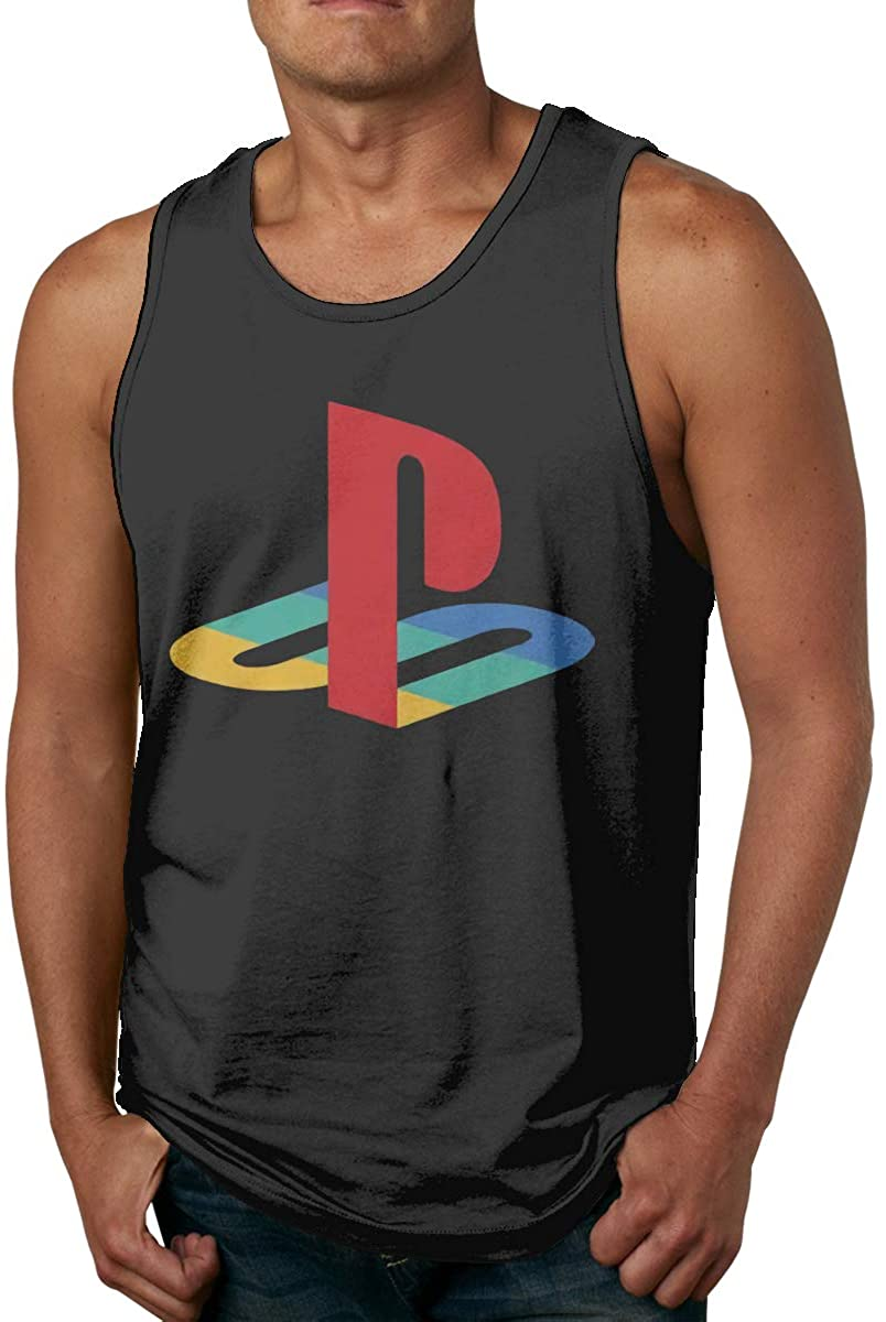 Playstation Men's Quick Dry Workout Muscle Tank Top Sleeveless Running T Shirt