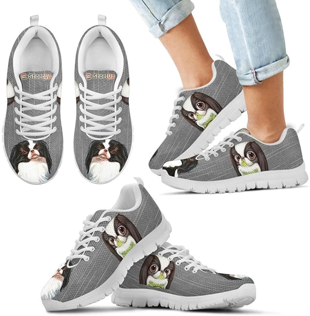 Pet Animal Designs Japanese Chin Print-Kid's Running Shoes-Lightweight Sneaker