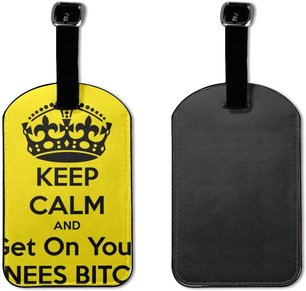 Keep Calm Suitcase Labels Bag Carry-On Id Tags Travel Accessories Set Of 2