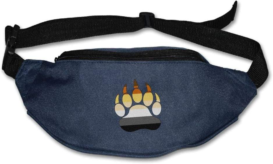 Fanny Bag LGBT Bear Pride Unisex Fashion Waist Pack Bag with Adjustable Strap
