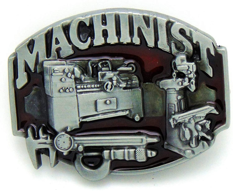 5 pieces Cowboy MACHINIST Belt Buckle Zinc Alloy Wear-Resistant Fashion Belt Buckle For 4.0 Belt