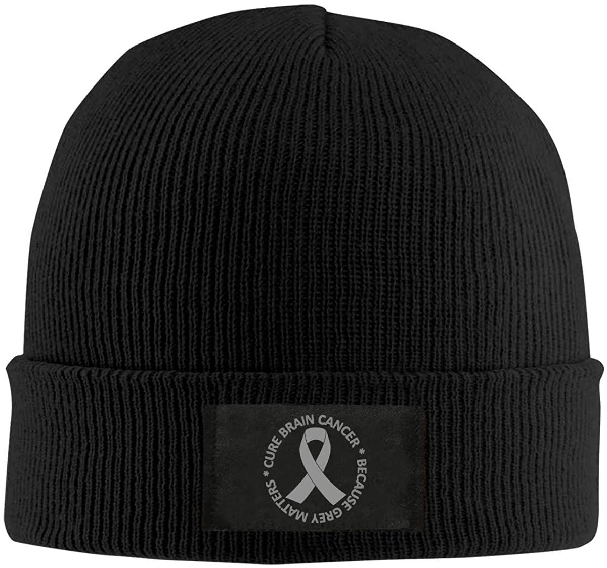 Brain Cancer Awareness Brain Tumor Men Women Knitted Hat Comfortable Skull Cap
